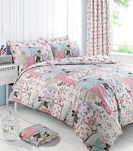 Boutique Pink Floral Duvet Cover Bedding Quilt Cover Set Pillowcase All Sizes