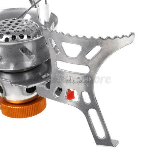 Outdoor Camping Gas Stove Portable Foldable Windproof Cooking Burner w//Adapter