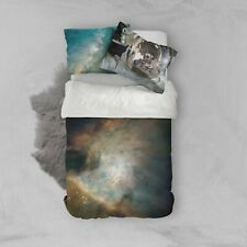 YOUSA 3D Mysterious Boundless Galaxy Quilt Cover Outer Space Bedding Sets Twin 04