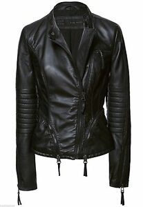 AUTHENTIC ZARA BLACK LEATHER QUILTED SLEEVE BIKER JACKET COAT ... : zara leather quilted jacket - Adamdwight.com