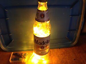 Modelo Handmade 24oz Lighted Beer Bottle - Beer Bottle Decor - Free Ship