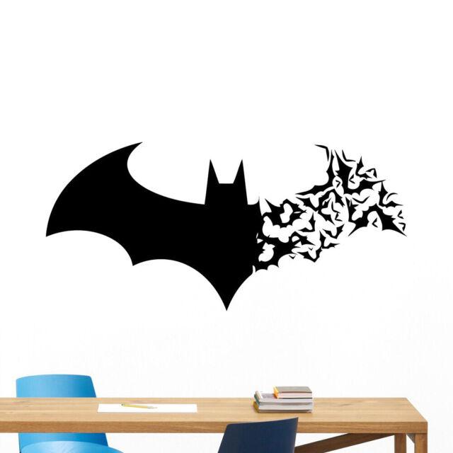 Creative Halloween Bat man PVC Wall Stickers Carved Waterproof Decoration
