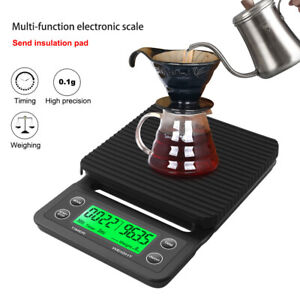 Household Coffee Weighing 0.1g Drip Coffee Scale w/Timer 5KG/3kg Kitchen Scale O