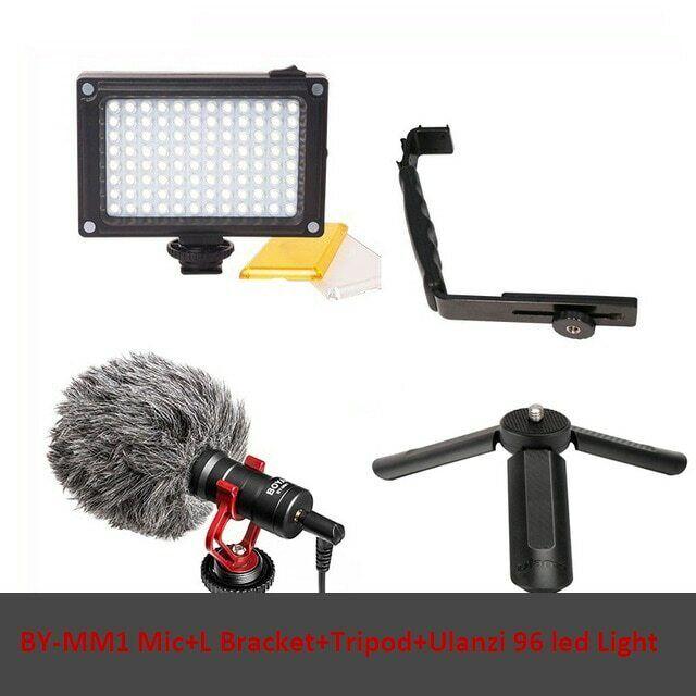 Per DJI OSMO mobile 3 2  ACCESSORI VIDEO Ragazzo BY-MM1 MICROFONO LED Staffa L  fabbrica diretta