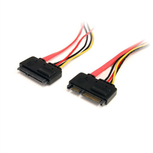 12IN Male to Female 7+15 Pin Serial ATA SATA Data Power Combo Extension Cable