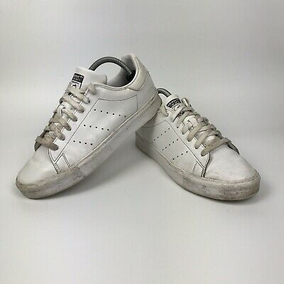 Adidas Stan Smith Vulc Scarpe Da Ginnastica Tutto Bianco Scarpe In Finta Pelle OG 7 Da Uomo UK   eBay