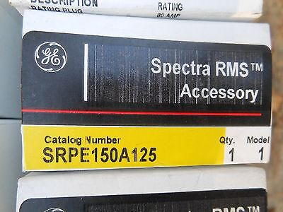 GE Spectra SRPF250A125 125amp circuit breaker rating plug new in box Warranty!