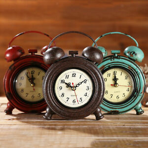 RETRO-50-039-s-STYLE-METAL-DINER-WALL-CLOCK-OFFICE-KITCHEN-HOME-DECORATION-ASSORTED