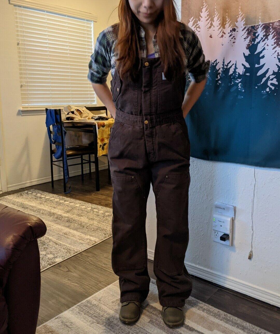 Visit the Carhartt Store Womens Weathered Duck Unlined Wildwood Bib Overalls