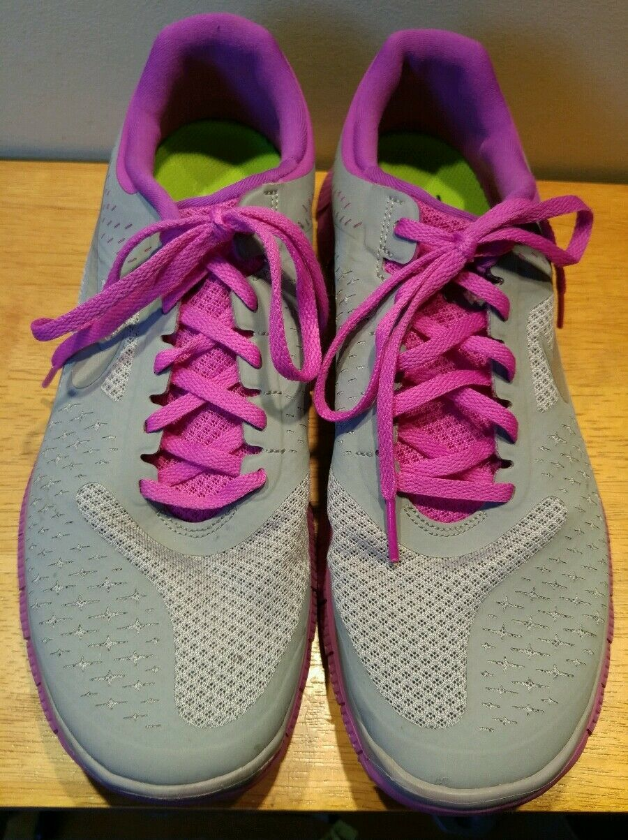NIKE FREE 4.0 Womens 11 RUNNING Gym SHOES Gray • Magenta Brand discount