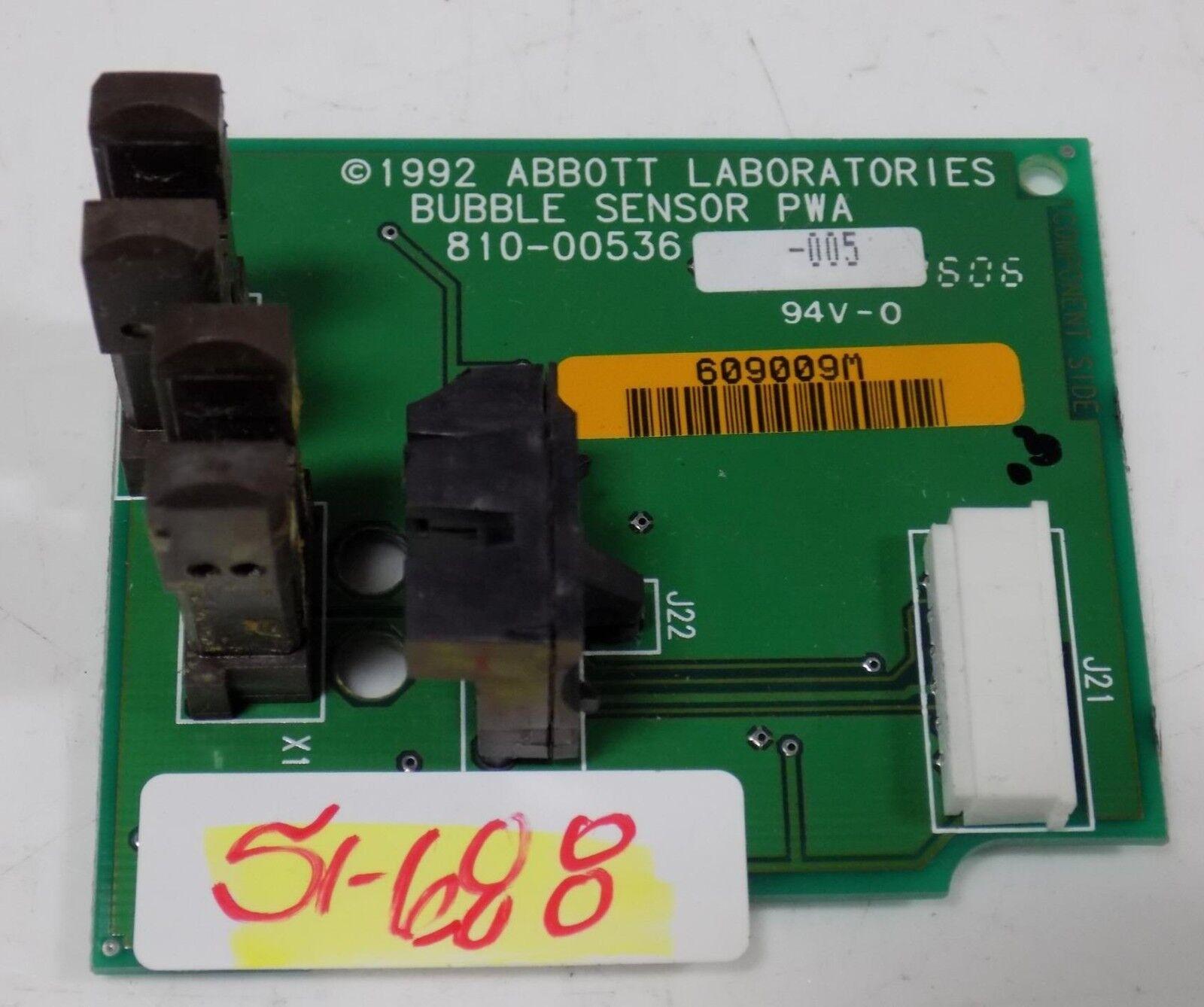 ABBOTT BUBBLE SENSOR PWA CIRCUIT BOARD 810-00536-005