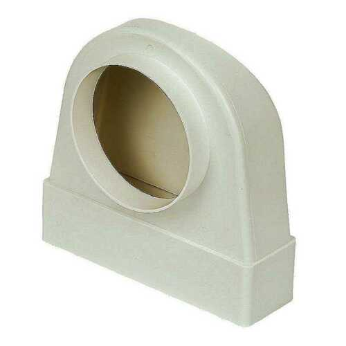 204mm x 60mm x 125mm ELBOW PLASTIC RECTANGULAR FLAT CHANNEL DUCTING EXTRACTOR FA