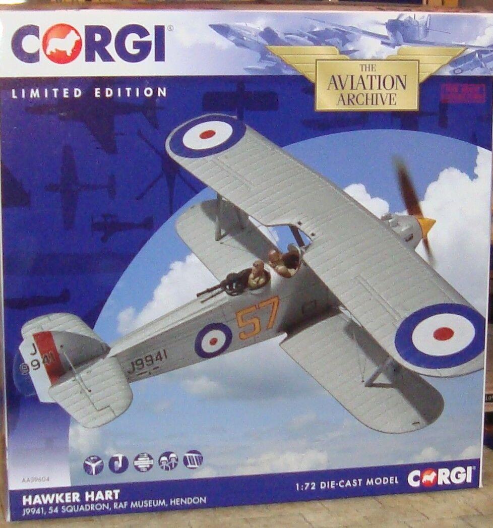 Corgi-Hawker Hart J9941 Plane - 54 Esron-RAF MUSEUM HENDON -1 72 - Ltd editn