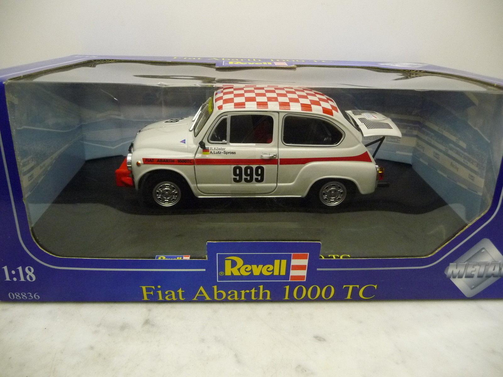 Revell 1 18 08836 Fiat Abarth 1000 TC Team Koster Lutz-trocito mercancía nueva Top