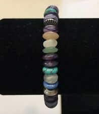 Carolyn Pollack- Relios Sterling Multi Gemstone & Silver Bead Coil Bracelet