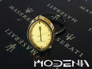maserati oro ovale reloj reloj de cabina oro dorado ovalado análogo