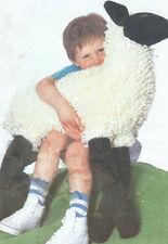 Lifesize Loopy Toy Black Face Lamb 80cm Chunky Wool Knitting Pattern