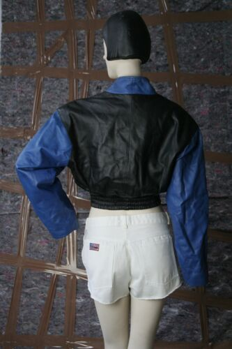 Giacca Vintage in pelle Uncle True Sportswear pelle Sam anni 90's Giacca '90 in TFwSxrOWqT