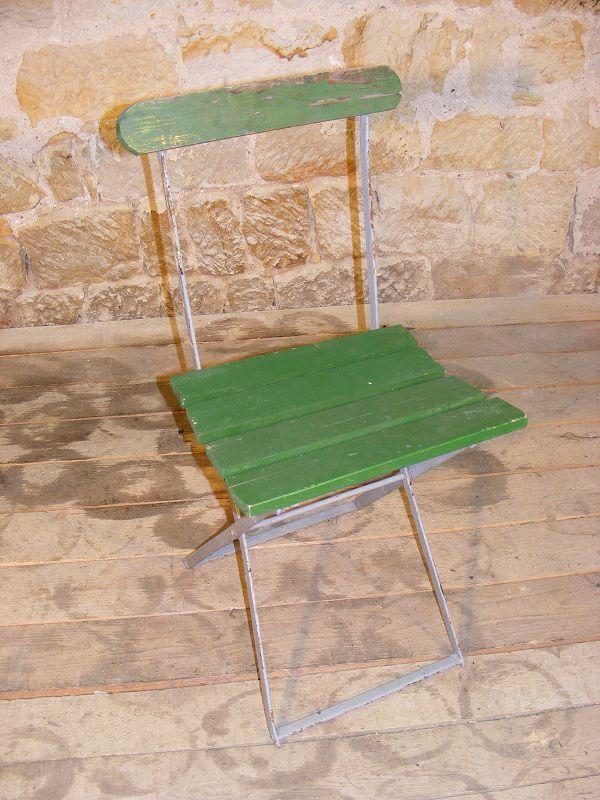 Alter Klappstuhl, Camping Chair, Gartenstuhl, Stuhl, Holz Metall, Terrasse Garten