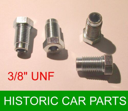 "Austin Healey Sprite Mk1 1958-60 4 x 3//8/"" UNF Male STEEL Plated Brake Nuts"