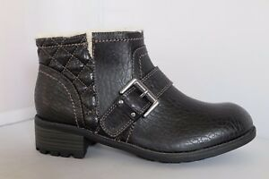 M-amp-S-Ankle-Boots-Limited-Edition-Black-Biker-Style-with-Insolia-Flex