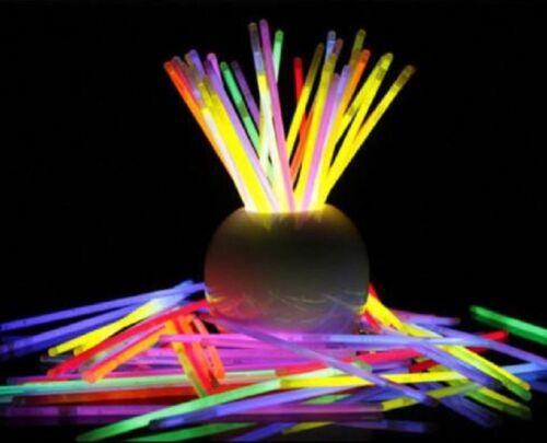 """Extreme Brillante Non-toxique Glowing Party Favors Neon Couleur 100 Coloré Sticks 8/"""""""
