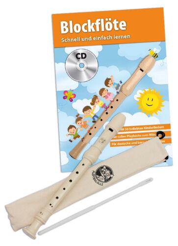 mit Blockflöte und Schule deutsche oder barocke Griffweise Blockflöten Set