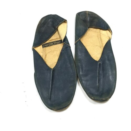 Vintage 1940s 50s Brooks Brothers Navy Leather Tra