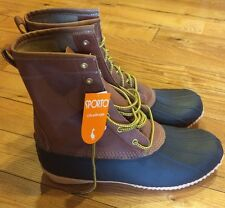Mens Sporto Russell Duck Boots Water Resistant Leather Upper Rubber Sole Sz 9