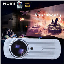 3000 lumens 1080P 3 LED Projector HD 3D Home Theater Cinema TV Video HDMI VGA PC