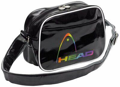 Head Kids Fusion Shoulder Bag - Black/white Small Shoulder Bag Glossy Pu Schrecklicher Wert