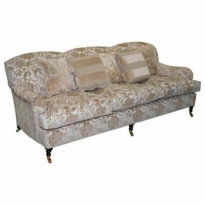 Scroll Arm Three Seater Sofa Paisley
