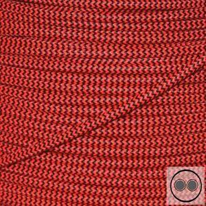 HonnêTe Câbles Textile, Tissu Câble, Neon Rouge Zigzag-zack Conducteurs 2 X 0,75 Mmâ² Environ (au Mètre)-afficher Le Titre D'origine