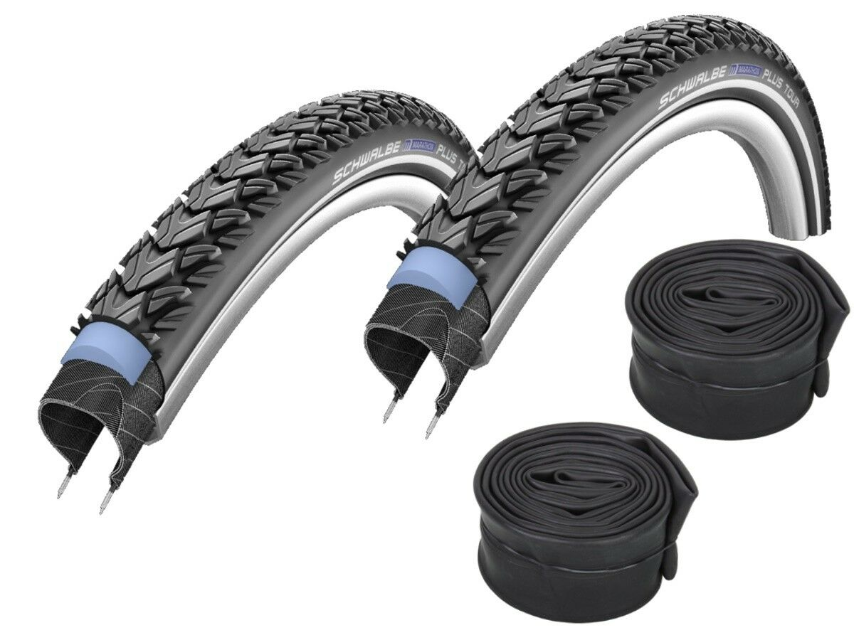 2 Pcs Schwalbe Marathon plus Tour Tire  26   28   all Sizes + Hoses