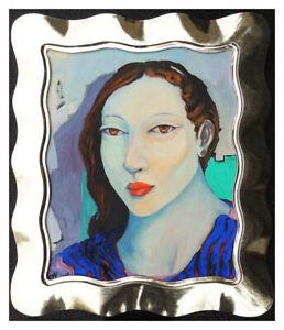 Miguel-Martinez-Original-Oil-Painting-On-Canvas-Female-Portrait-Signed-Artwork