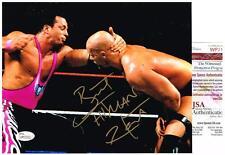 WWE WWF BRET HITMAN HART AUTOGRAPHED JSA 8X10 PHOTO VS STONE COLD STEVE AUSTIN