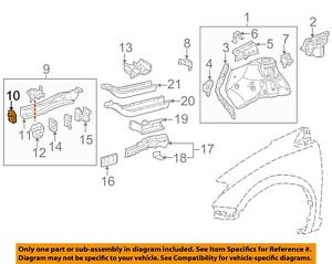 For Toyota Genuine Bumper Impact Absorber Bracket Front Right 5711708020