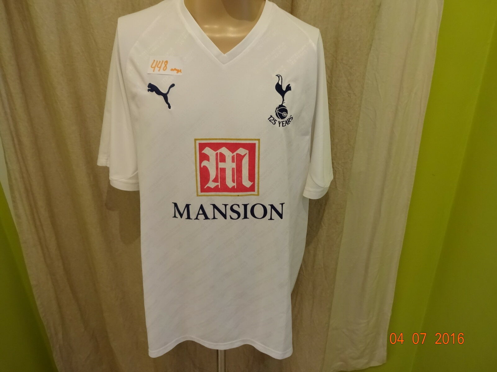 Tottenham Hotspurs Original Puma 125 Jahre Jubiläum Trikot 2007    MANSION  Gr.XXL 594bc7