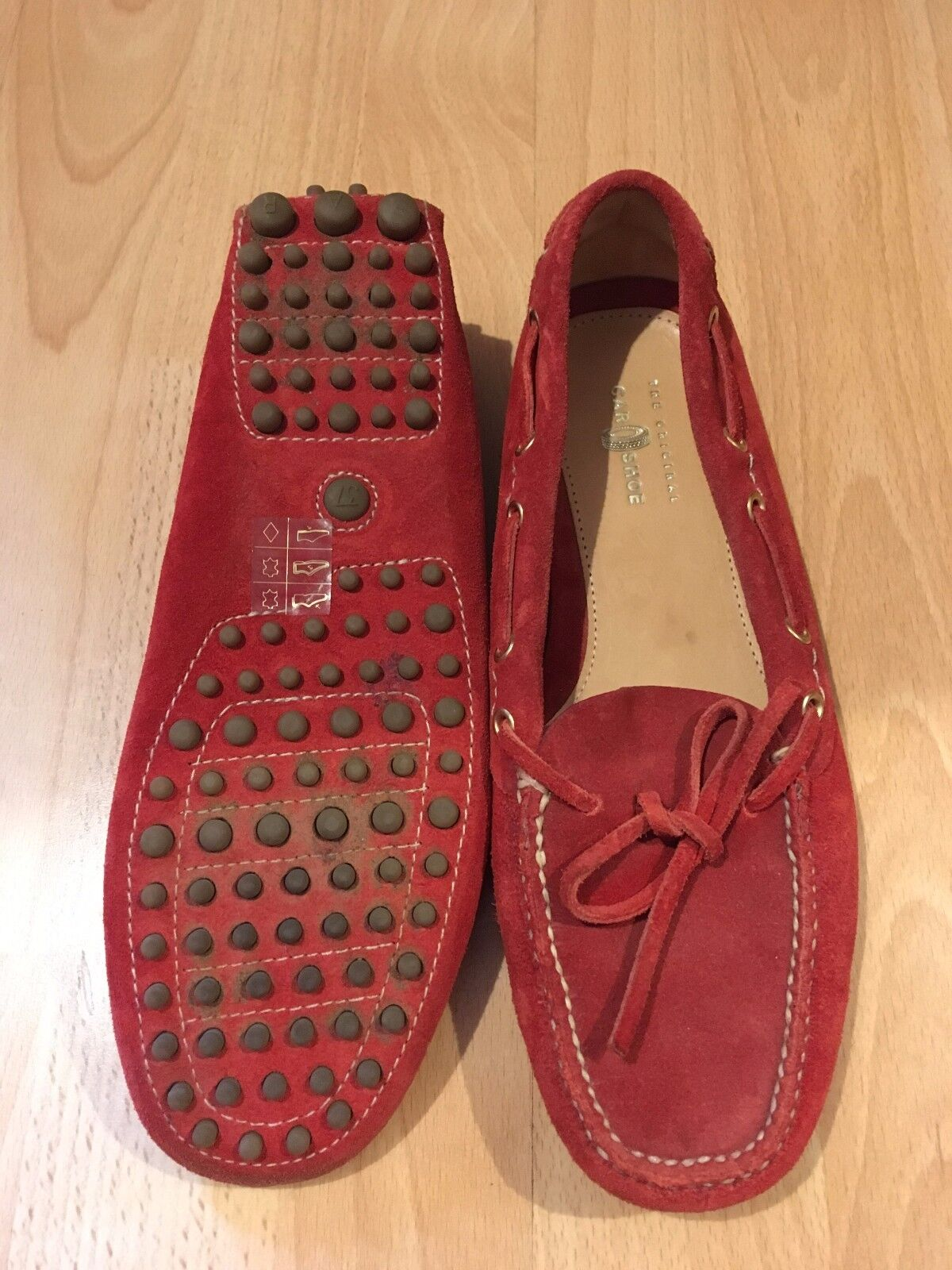 The Original Car shoes Red Driving Loafers Flats Size Size Size 5 105b77