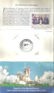 SPACE SHUTTLE DISCOVERY 1988 MARSHALL ISLANDS $5 COIN COMMEMORATIVE UNC