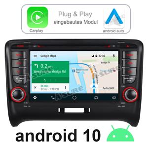 BOSE+ 4K Carplay Android 10 DVD GPS Navi Autoradio BT Für Audi TT MK2 8J quattro