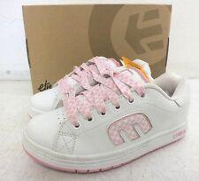 Etnies 'Callicut' White Leather w/Pink Checker Women's Skateboard Shoes US 5/35