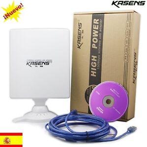 ANTENA-USB-PANEL-WIFI-KASENS-N5200-80dbi-6600mw-RALINK-3070-similar-NETSYS-98dbi