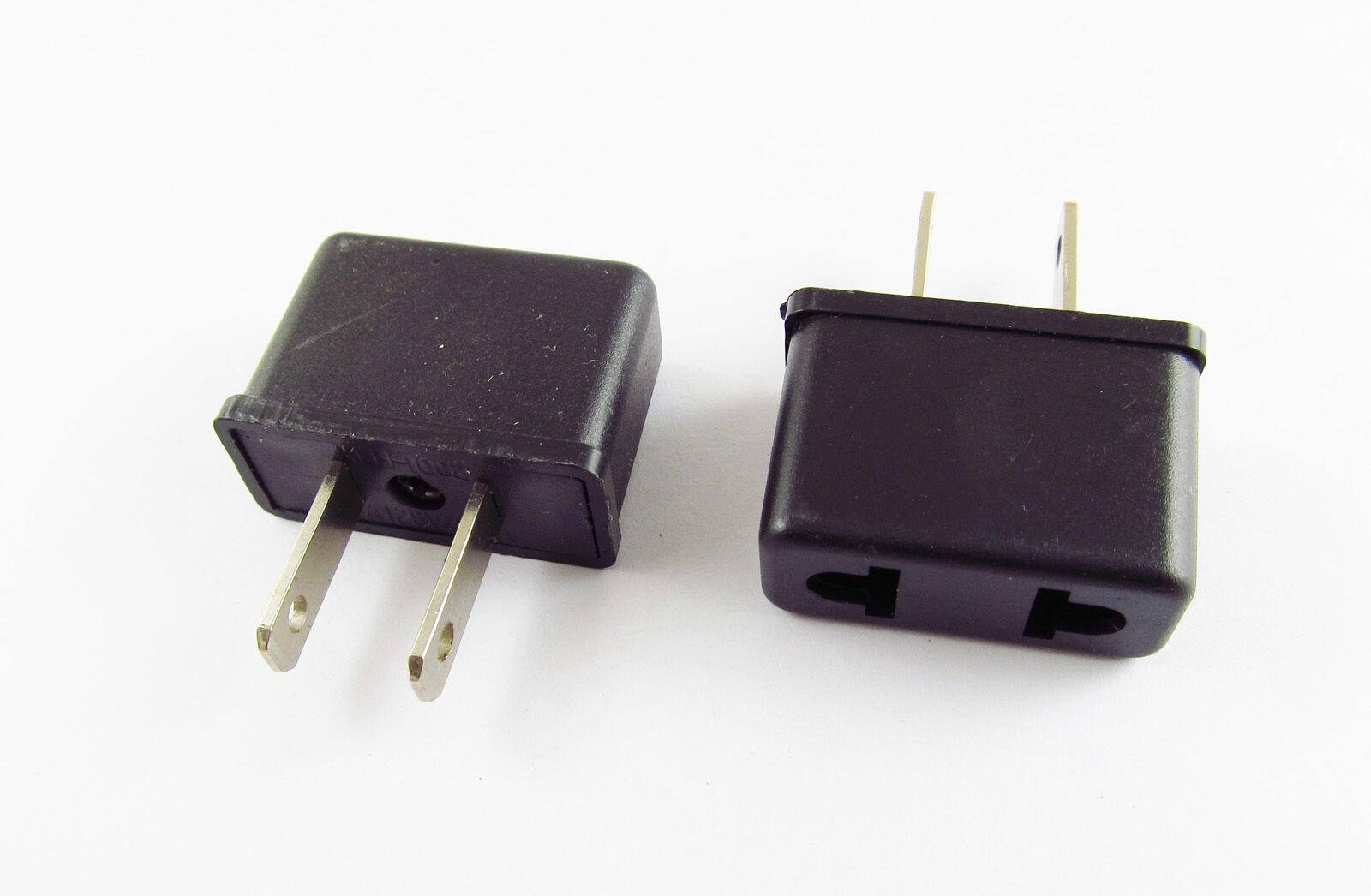 US USA To EU Europe EURO AC Power Wall Plug Travel Charger Adapter ConvertYJCA