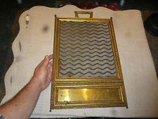Ancien Cadre Grille Moustiquaire Laiton Pare feu de Cheminée décoration a créer