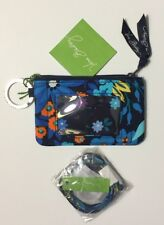 NWT VERA BRADLEY ZIP ID CASE & LANYARD SET  midnight blues  GIFT