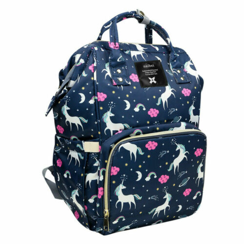 Baby Diaper Nappy Mummy Changing bag Backpack Set Multi-Function Unicorn Bag UK