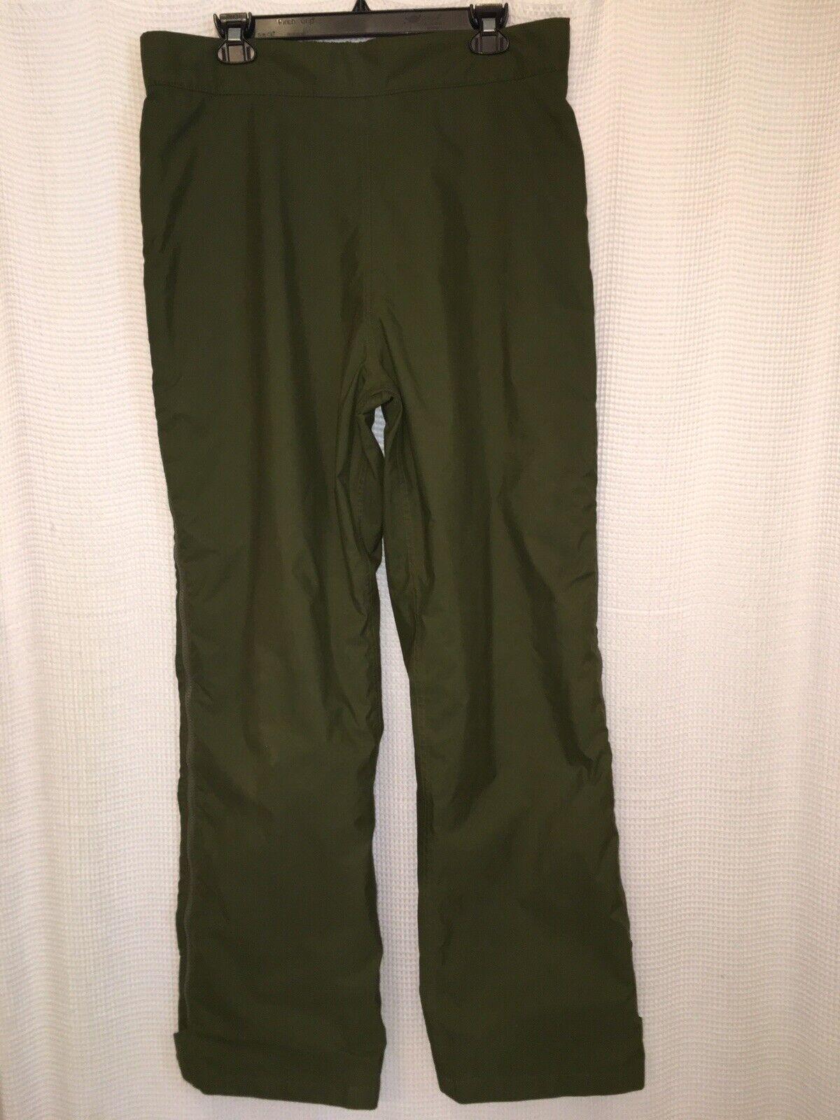 The North Face  GoreTex Pants Mens Large Ski Work Dark Olive Green Zip Legs USA  affordable