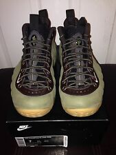 Nike Air Foamposite One PRM Premium Suede Olive Velvet Brown  575420 200 Sz 7