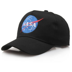Nasa Trucker Hat Mesh Hat Snap Back Insignia Embroidered Baseball Cap Hat Black by Unbranded
